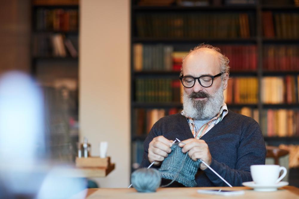 Hirsute Gentleman Knitting